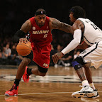 lebron james nba 130130 mia at bro 10 LeBron Torches Nets in Angry Mode. Debuts LeBron X No. 17!