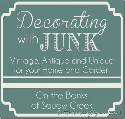 decorating with junk and vintage