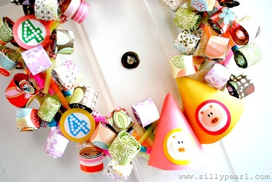 The Silly Pearl - Party Blower Birthday Wreath