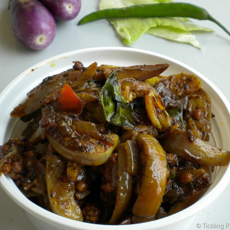 Kathirikkai Milagu Curry / Brinjal Pepper Fry