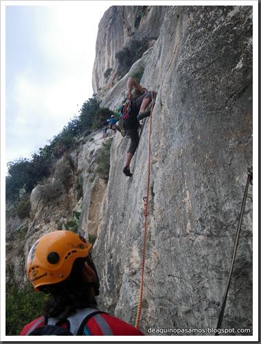 Via Costa Blanca 250m 6c  (6b A0 Oblig) (Peon de Ifach, Alicante) (Isra) 2408