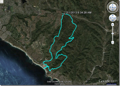Running Crystal Cove Loop 2-1-2013