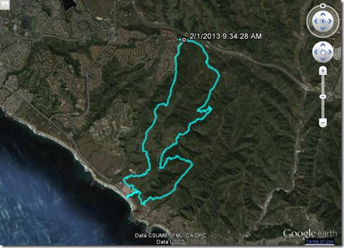 Running Crystal Cove Loop 2-1-2013