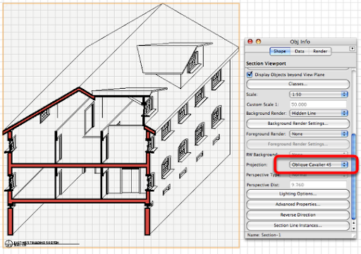 Creating a section viewport architectural drafting in for Architecture oblique