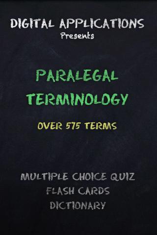 580 PARALEGAL Terms Quiz App