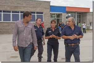 Granados recorrió la Escuela de Policía de La Costa acompañado por Juan Pablo de Jesús