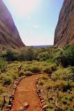 On The Walking Track At Wapa Gorge - Yulara, Australia