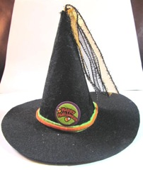 Witches felt black hat decoration.