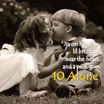 #Valentine2014 Kiss Day Love Quote Song Crazy for you 10 Alone Vikrmn Author 10 Alone CA Vikram Verma