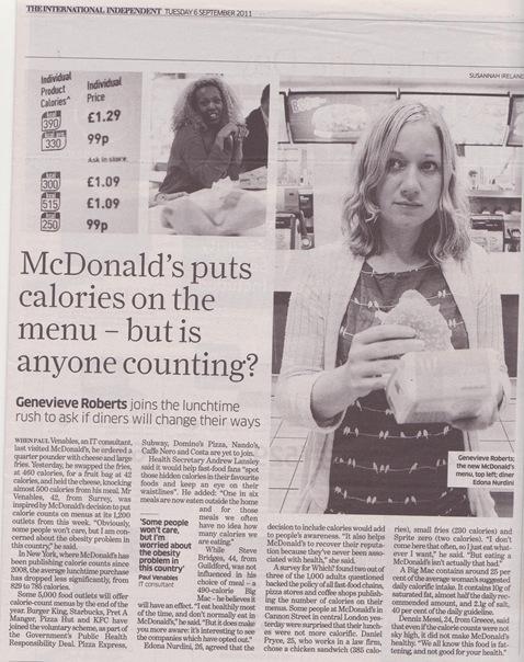 calorias de Mac Donald's TheIndependent 080911