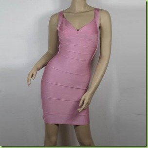 pink bandage dress2