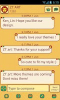 Screenshot of CuteLion Theme GO SMS