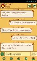 Screenshot of CuteLion Theme GO SMS