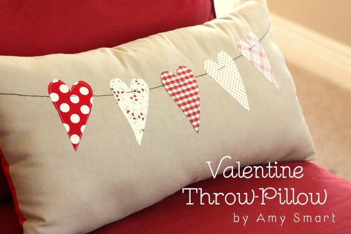 Valentine Throw Pillow by Amy Smart