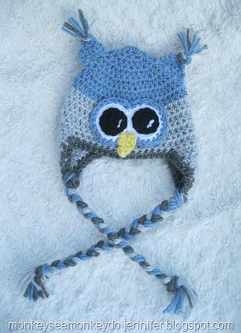 baby boy owl hat size 3-6 months