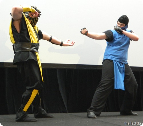 EB Expo Just 'Cos Cosplay Competition - Sub Zero and Scorpion from Mortal Kombat