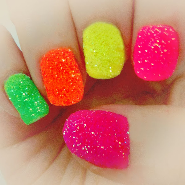 Easy Nail Polish Designs Neon Pretty Easy Nail Designs