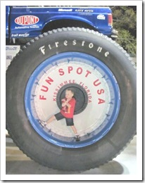 Florida vacation Old town twin in big monster truck tire
