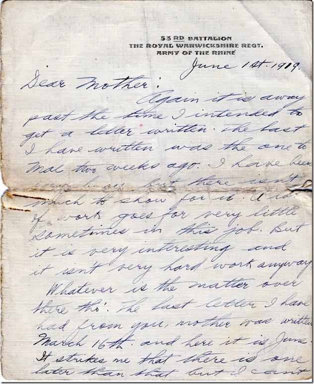 1 June 1919 1