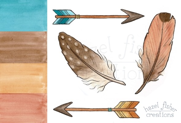 2015 March 30 Spoonflower southwest baby bedding contest surface pattern design fabric arrow feather hazel fisher creations 2