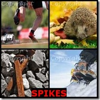 SPIKES- 4 Pics 1 Word Answers 3 Letters