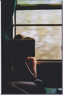 reading in a train