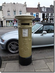Peebles gold pillar box