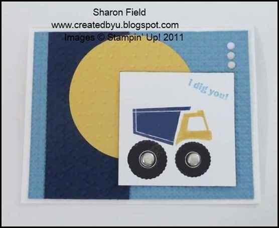 4.cas dump truck card from scraps