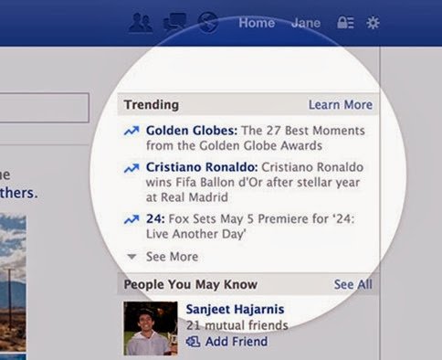 Tending Topics en Facebook