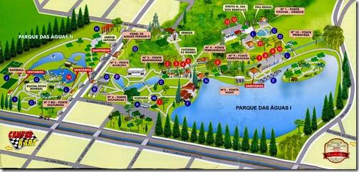 Mapa Parque das Águas de São Lourenço