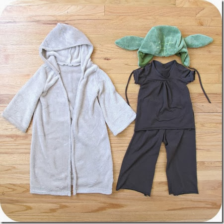 yoda costume pieces