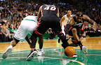 lebron james nba 130127 mia at bos 07 Boston Outlasts Miami in 2nd OT. LeBron Debuts Suede X PE!