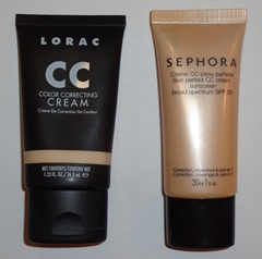 LORAC CC Cream and SEPHORA CC Cream