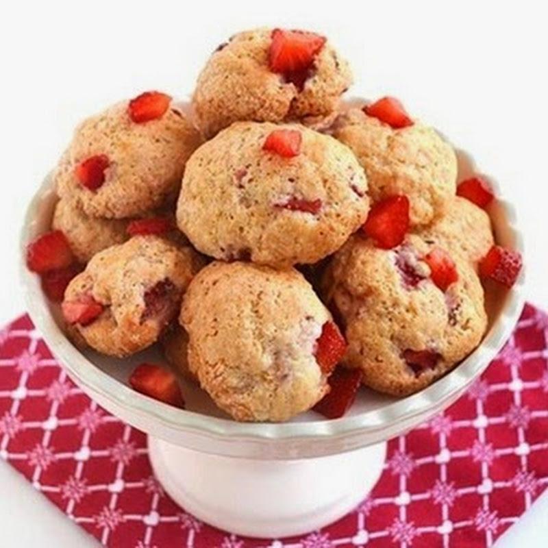Cookies με ρικότα και φράουλες