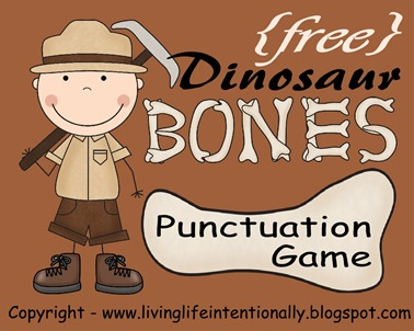 Dinosaur punctuation game