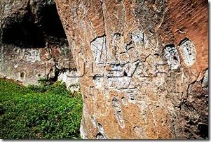 Inscrições rupestres no município de Urubici - SC - cerca de 3.000 AC