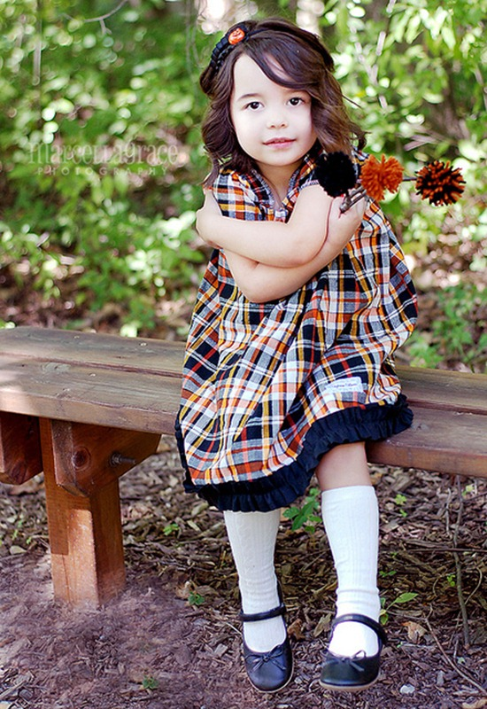 fall october halloween flower girl thanksgiving dress
