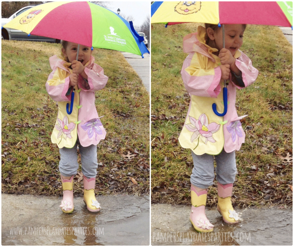Welcome Spring Jumping in Puddles C2