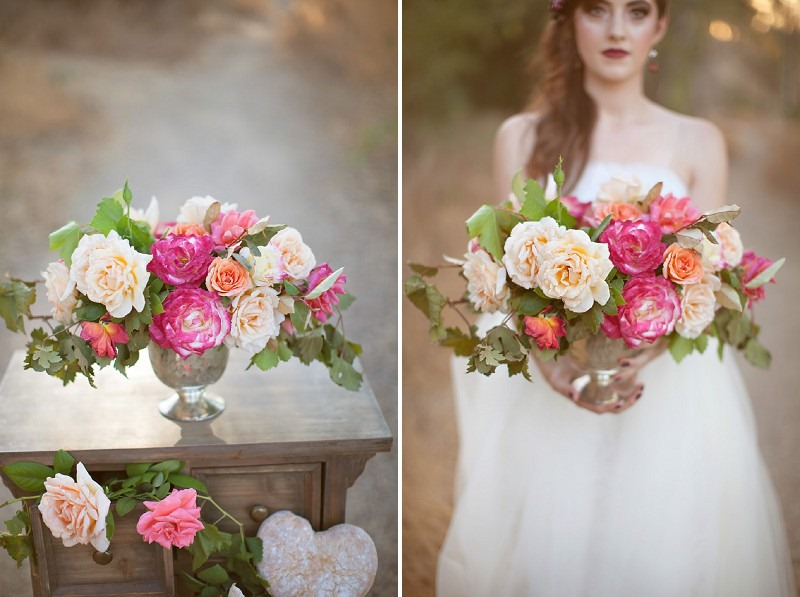8OakandtheOwl_Lush Garden Rose Centerpiece