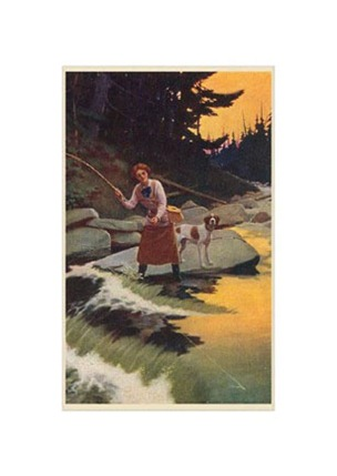 woman_and_dog_fly_fishing