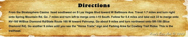 Directions - Blue Diamond Trails