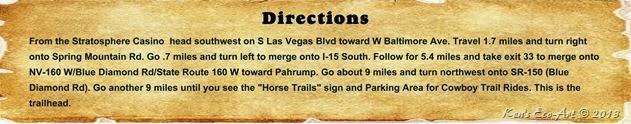 Directions - Blue Diamond Trails