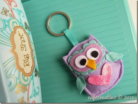 cafecreativo - gufo portachiavi - feltro - owl key ring - tutorial - big shot sizzix (2)