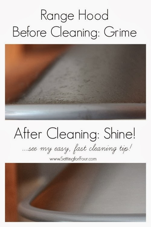 Easy fast cleaning tip to clean an oven range hood