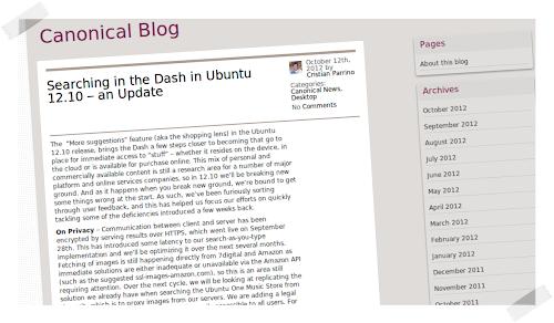 Ubuntu 13.04 - migliorerà le ricerche online