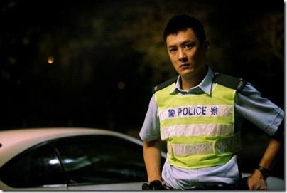 Shawn Yue as the cop, Motorway