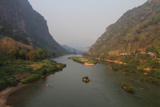 The spectacular Nam Ou river and the mountains at Nong Khiaw, Laos