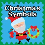 christmas symbols button
