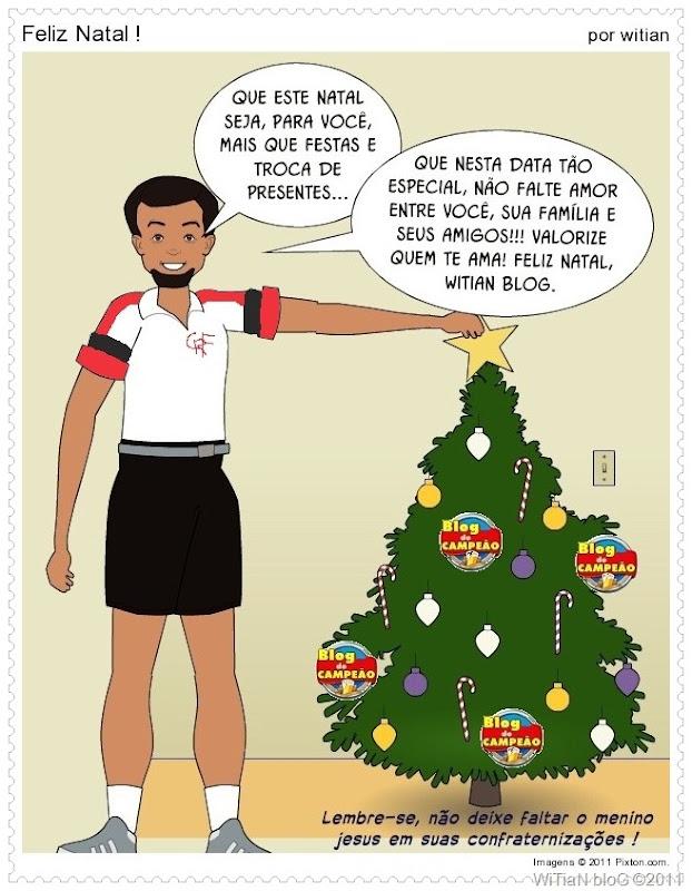 Cartão de Natal do Blog de CAMPEÃO - WiTiaN bloG