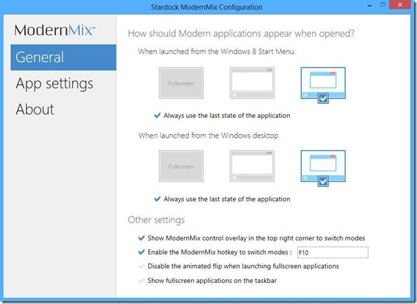 ModernMix indicare come eseguire le app Windows 8